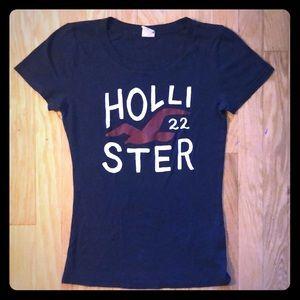 Navy Blue Hollister Tee Shirt